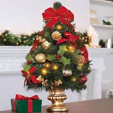 Interesting Small Christmas Tree Decorations With Cool Colorful Ball Ornaments And Beautiful Fireflies Lights Plus