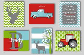 Woodland Themed Nursery Bedding by Woodland Nursery Deer Print Tractor Art Farm Nursery Baby