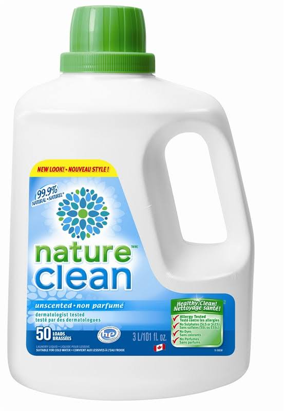 Nature Clean Laundry Liquid - Unscented, 3l