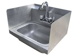 hand sink splash guard restaurant hand sink usa equipment direct