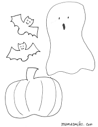 Halloween Coloring Pages And Felt Board Shapes