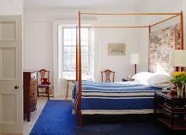 schlafzimmer mit himmelbett blauer bild kaufen