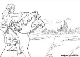 Coloring Page Barbie Cartoons 323