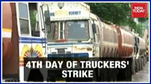 100 Trucking Strike Mumbai Supplies To Be Hit As AllIndia Truckers Enters Day 4