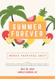 Colorful Vectors Summer Music Festival Poster