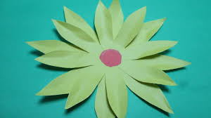 Paper Cutting Designs How To Make Cut Out Sunflower Instructions Step By Crafts