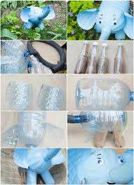 Plastic Bottles Crafts Ideas How Make Elephant Figure