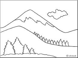 Mountain Range Coloring Page Hicoloringpages Sketch