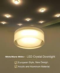 ٩ ۶dvolador runde kristall downlight decke spot licht