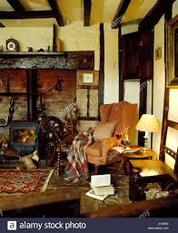 Cottage Livingroom Traditional Country Cottage Livingroom Interior Stock Photo
