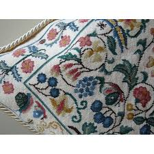 English Garden Pillow needlepoint kit The Stitcher s Muse Needleart