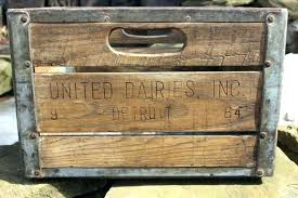 Wooden Milk Crates For Sale Vintage United Dairy Inc Crate