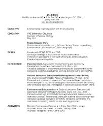 Scientist Resume Examples Sample Environmental Simple Image Data Objective