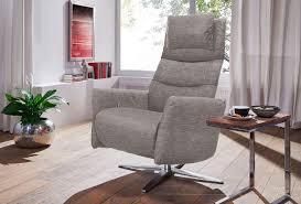 design möbel sessel relaxsessel leder beige mit hocker