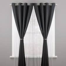 shop double curtain rods modern hardware color pewter