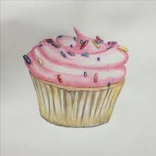 I love drawing cupcakes