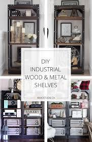 Wood Shelves Diy by Diy Industrial Wood And Metal Shelves