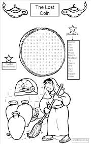 Luke 15 Lost Coin Word Search Puzzle