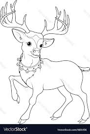 Reindeer Coloring Page Vector Rudolph The Red Nosed Characters Pages Lyrics Full Size