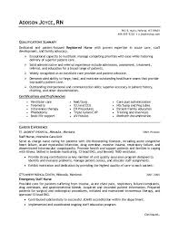New Nurse Resume Free Template Sample Travel Nursing