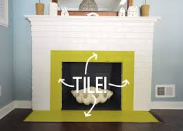 Home Depot Wall Tile Fireplace fireplace makeover tiling the mantel with marble herringbone