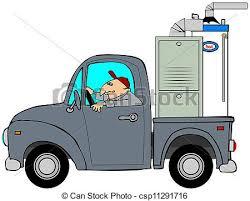 Truck Hauling A Furnace