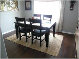 Area Rug Under Dining Table Pattern No Room