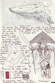 cabinet of curiosities book with original sketches from director
