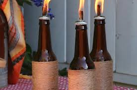 Citronella Oil Lamps Diy by Reuse Old Wine Bottles As Incredibly Cute Tiki Torches