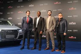 Team Cap Sebastian Stan Anthony Mackie Chris Evans And Director Joe Russo
