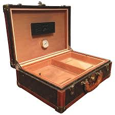 Cigar Cabinet Humidor Uk by Louis Vuitton Cased Travelling Cigar Humidor For Sale At 1stdibs