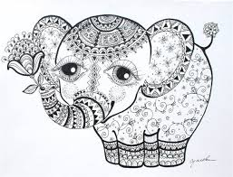 Adult Elephant Coloring Page
