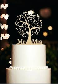 Wedding Cake Topper Mr And Mrs Rustic Tree Style Wooden S Silhouette Bride Groom Toppers For