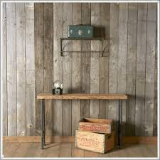 Industrial Console Table And Reclaimed Wood Furniture Plus On Laminate Flooring