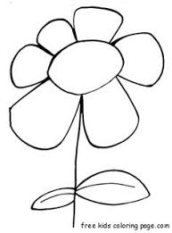 Free Print Out Spring Flower Bloodroot Coloring Page For Kid