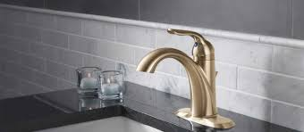 Delta Trinsic Bathroom Faucet Champagne Bronze by Lahara Bathroom Collection Delta Faucet