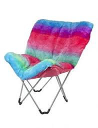Shop Rainbow Faux Fur Butterfly Chair And Other Trendy Girls Room Decor Toys At Justice Find The Cutest To Make A Statement Today