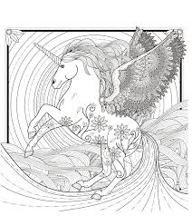 Complex Coloring Pages For Adults Unicorn