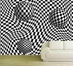 vlies tapete poster fototapete 3d effekt schwarz weiß zebra kugeln
