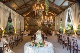 Rustic Reception A Elegant Barn Wedding In Santa Barbara