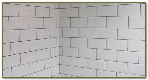 white subway tile with bright white grout tiles home