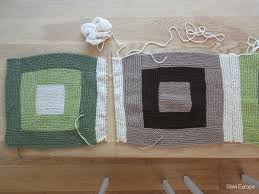 My Knitted Log Cabin Blanket – Slow Travels