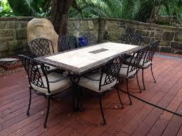 Outdoor Dining Stone Rositano Cast Pizzaro Deck 1