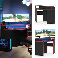 vicco gaming desk schreibtisch kron eckschreibtisch gamer pc tisch computertisch