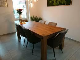 esszimmer kombination esstisch echtholz eiche 6 stühle vintage