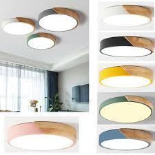holzschale ultradünn led deckenleuchte modern wandle unterputz wohnzimmer
