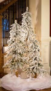 Flocking Christmas Tree Kit by 5 U0027 Flocked Alpine Tree 200 Clear Lamps Christmas Trees