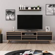 hira tv schrank modern mit tueren regal einlegeboeden
