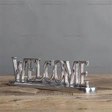 European home decor retro hand made Aluminum handicrafts letters