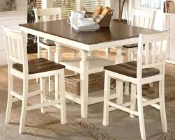 Cottage Style Dining Table And Chairs Room Tables Sets Counter Height Set With Extension Bar Alluring